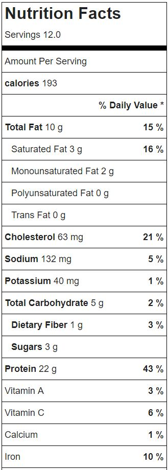Nutrition Facts for Healthy Slow Cooker BBQ Made With Top Round Roast