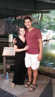Shelby and I on the River Walk in San Antonio