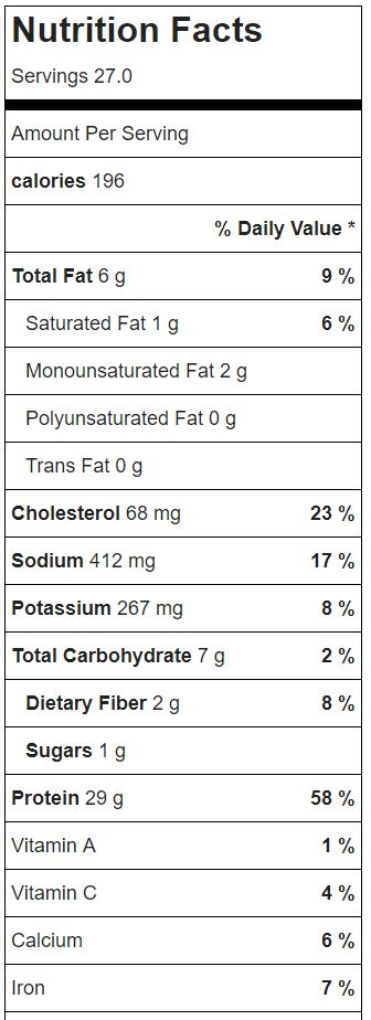 Crockpot White Chicken Chili Nutrition Facts